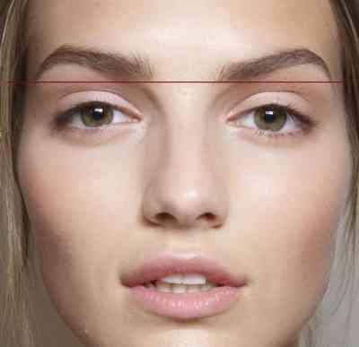 Брови высоко над глазами макияж