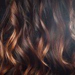 На темные волосы
