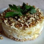 салат с курицей и орехами рецепт